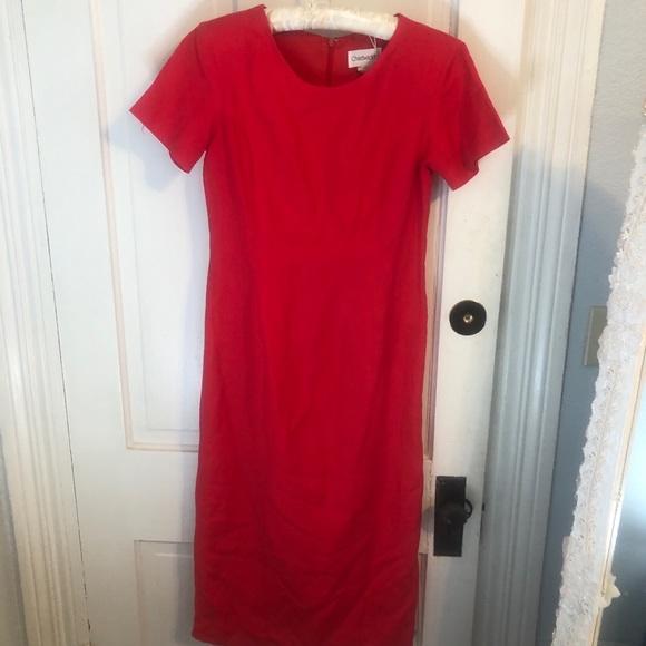 Vintage Dresses & Skirts - Vintage Chadwick's Sheath Linen Dress